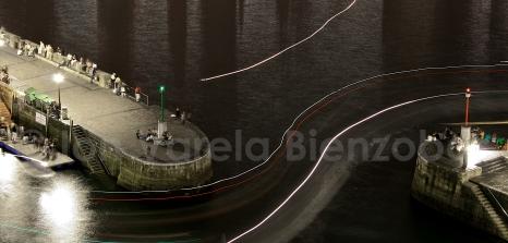 Entranda al puerto de Donostia